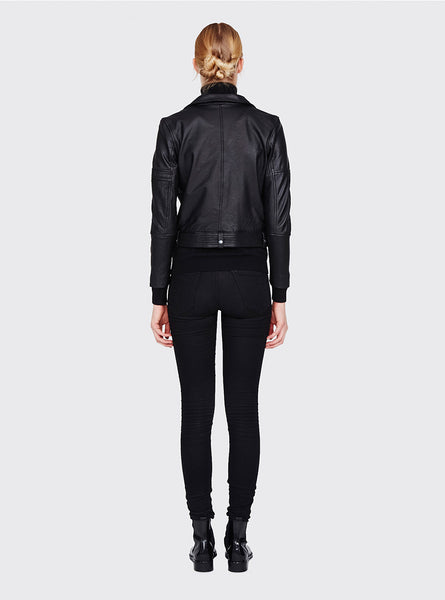 MINIMUM Bella Leather Jacket black