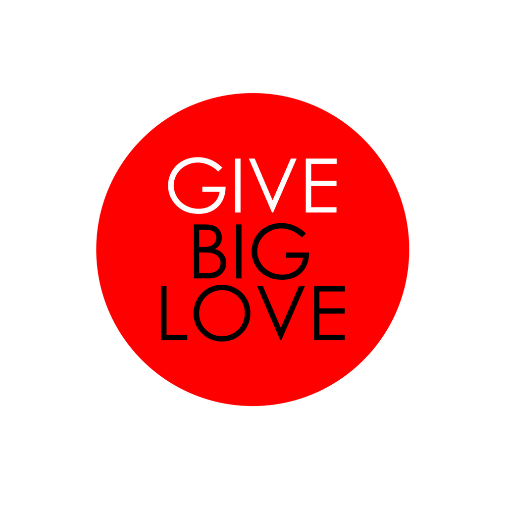 Stretched Canvas - Give Big Love 16 x 16