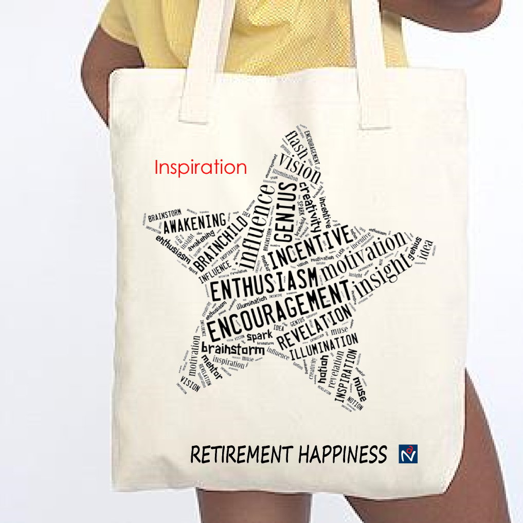 Retirement Happiness Inspiration Tote - American Apparel E549 Bull Denim Woven Canvas Tote