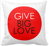 Red Pillow - Give Big Love $27.95