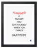 Framed Canvas Print - Happiness is the Gift You Give Yourself
