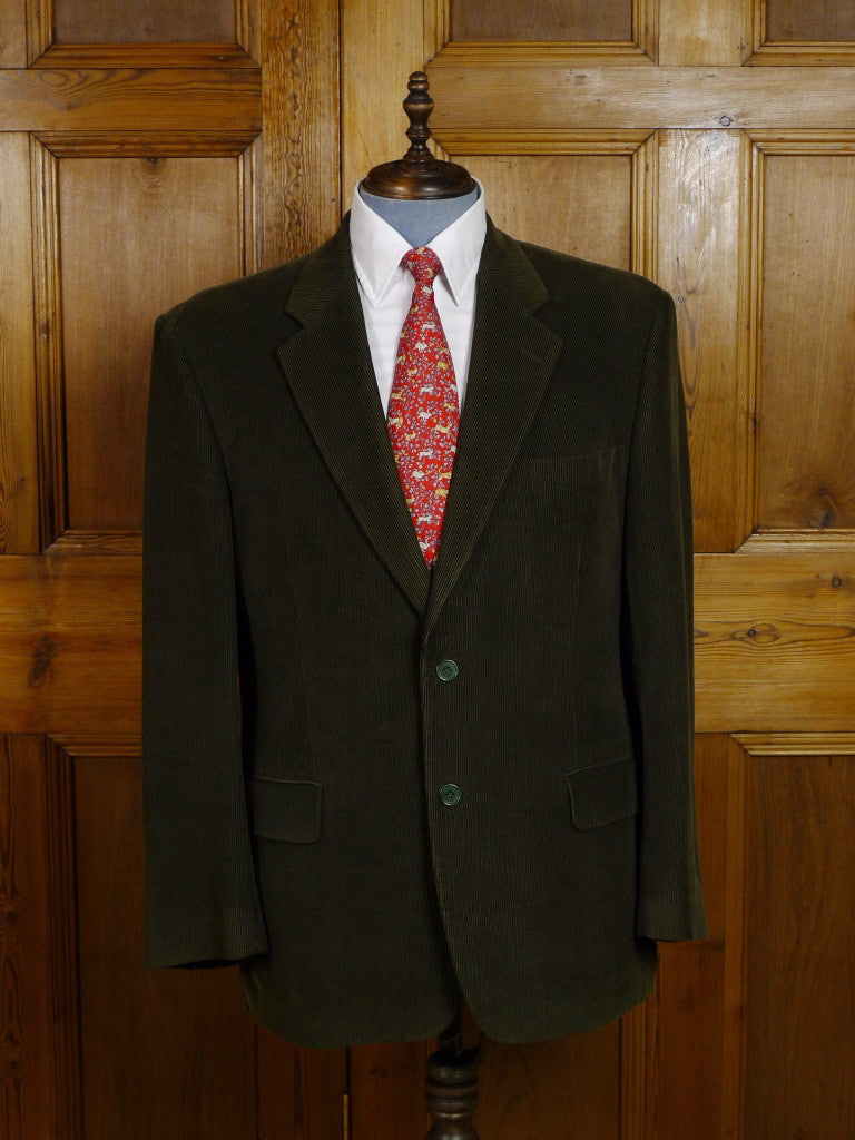 Immaculate Modern Austin Reed Green Corduroy Jacket 44 45r Savvyrow Staging