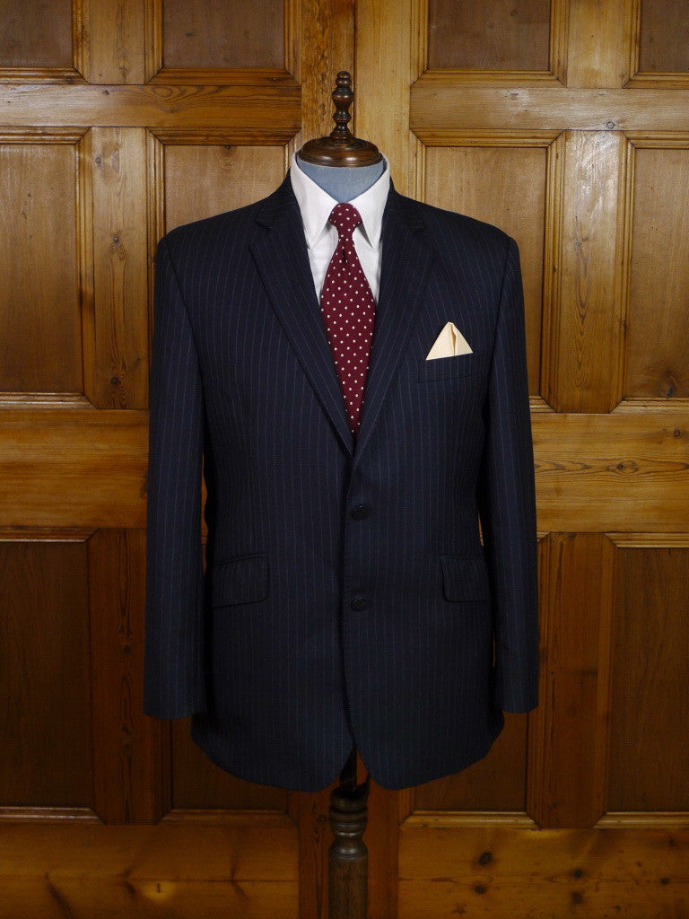 Modern Austin Reed Navy Blue Pin Stripe Wool Suit 44r Savvyrow Staging