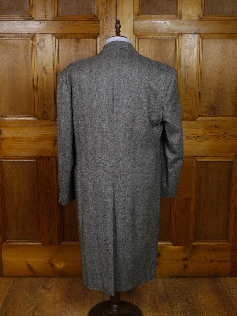 Vintage Austin Reed Grey Herringbone Wool Chesterfield Coat 42 44l Savvyrow Staging