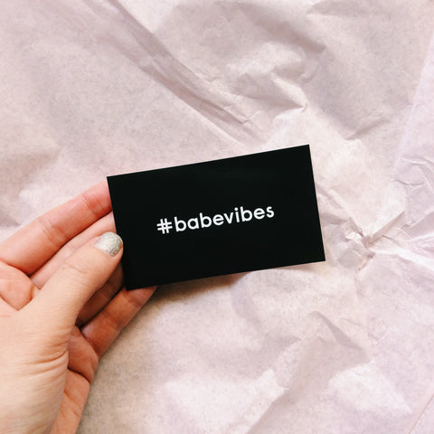 #babevibes Stickers Pack