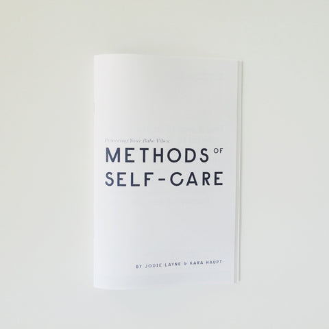 Methods of Self-Care Zine