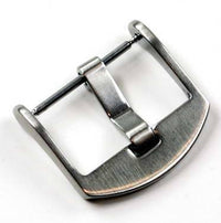 24mm OEM style Brushed 'Thumbnail' compression pin buckle - TC Straps