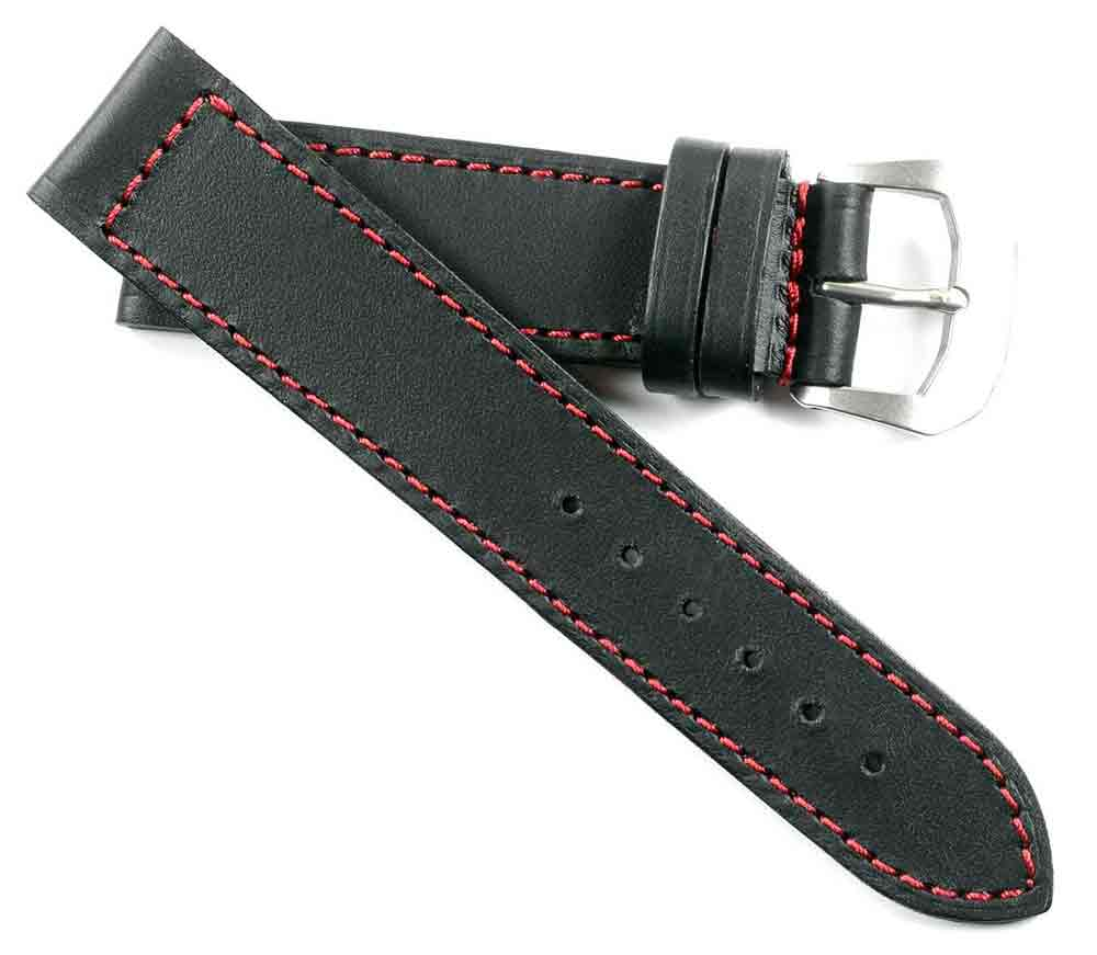 Anonimo Original Kodiak in Black with Red Stitching 22/20 125/80 - TC Straps