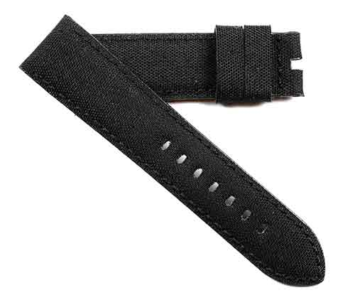 Buy It, Try It, Love It Toscana Hand made rolled  Cordura® in Black with black stitching - TC Straps