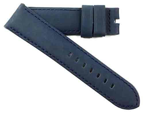 Buy It, Try It, Love It, Toscana Handmade Blue Nubuck with matching stitching - TC Straps