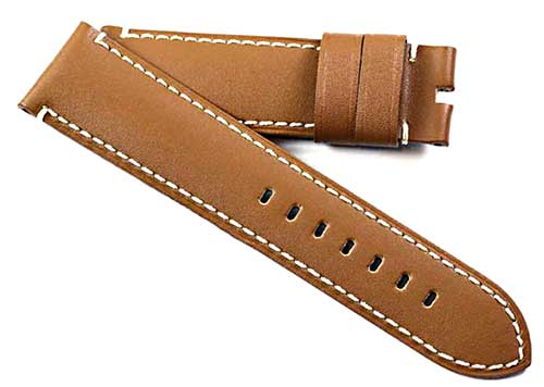 Buy It, Try It, Love It, Toscana Handmade calf skin leather in Bronze Tan for Tang or Deployant buckles - TC Straps