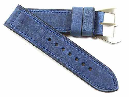 Fabrizio Ciampi Handmade African Kudu in Blue with a sewn buckle - TC Straps