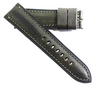 Fabrizio Ciampi Handmade Dark Olive Green Tuscan leather for Tang buckles - TC Straps