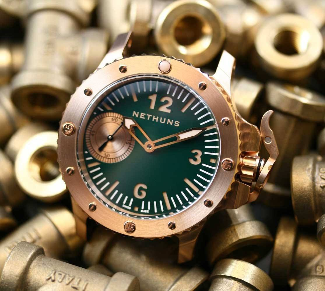 Nethuns Bronzo № 5.1.1.7.02 45mm Green Dial - TC Straps