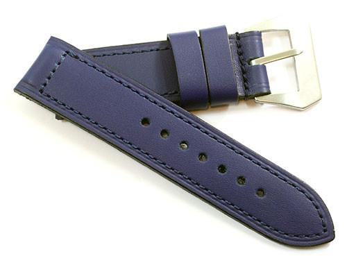 Original Kodiak 100% Waterproof leather in Blue with a sewn in buckle - TC Straps
