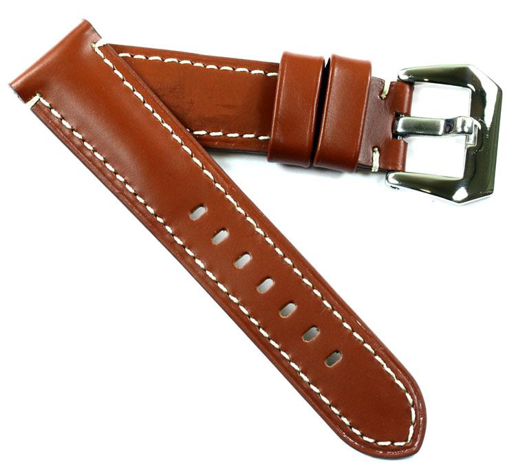TC Milano OEM style calf in Cognac includes a screw-in buckle 22/20 125/75 - TC Straps