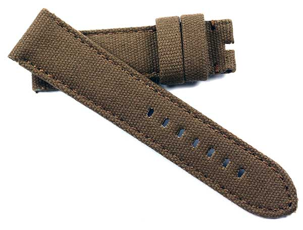 Toscana Handmade Canvas in Brown for OEM Panerai or Anonimo Tang buckle - TC Straps