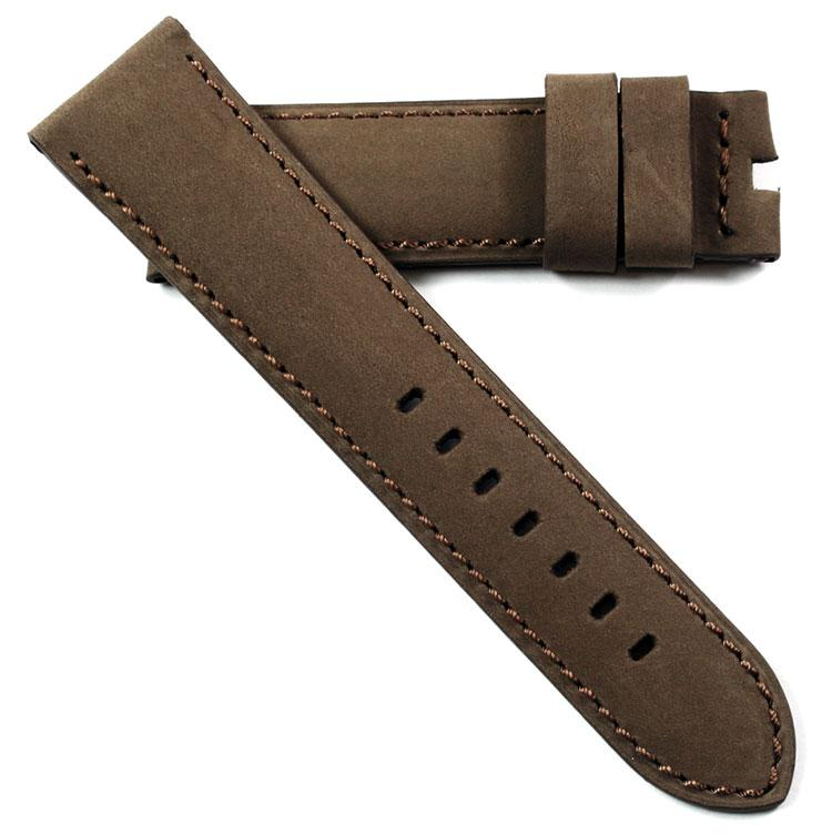Toscana Handmade Coconut Shell Brown Nubuck  for Tang or Deployant buckles - TC Straps