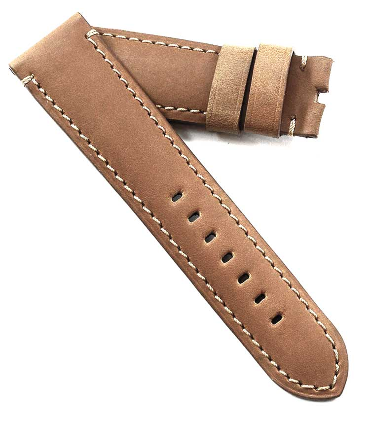 Toscana Handmade Kidskin in Light Brown for a Tang buckle - TC Straps