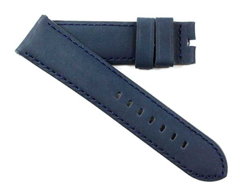 Toscana Handmade Kidskin Nubuck in Blue for Tang buckles 24/22 125/80 - TC Straps