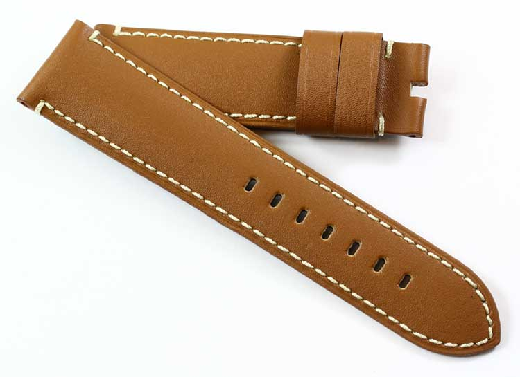 Toscana Handmade soft Tan calfskin for tang buckles - TC Straps