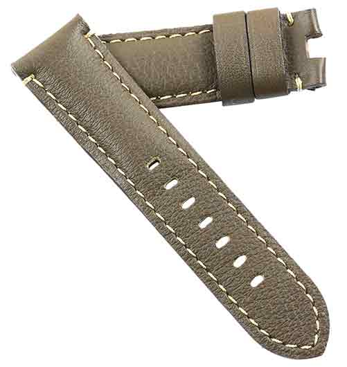 Toscana Soft Calfskin in Taupe Brown for your Panerai Deployant Buckle - TC Straps