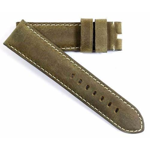 Toscana True Vintage in Sepia with white stitching for your tang buckle - TC Straps