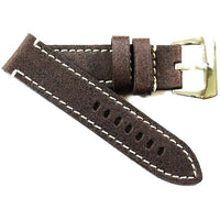 Toscana Vintage Chocolate Brown with Shiny Pre-V buckle - TC Straps