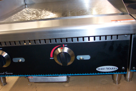 "Griddle - 24"" Gas Serv-Ware Model SMG-24"