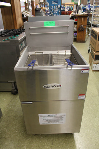 FRYER SERV-WARE 80LB NATURAL GAS,150,000 BTUs