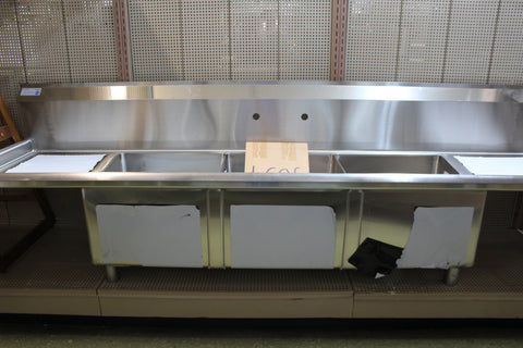 SINK - THREE COMPARTMENT WITH 2 DRAINBOARDS