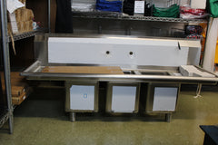 SINK - SPACE SAVER 3 COMPARTMENT