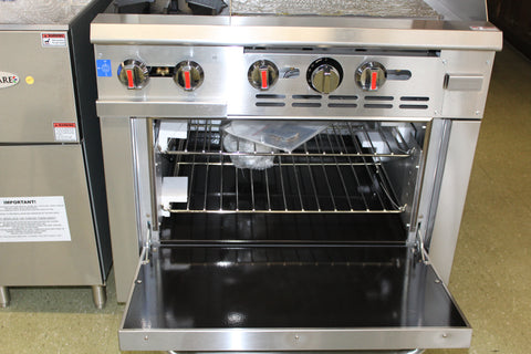 "Range Two Burners with 24"" Flat Top Gas Model SGR-2B-24G"