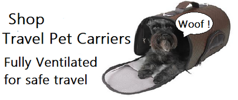 shop dog carriers  click here