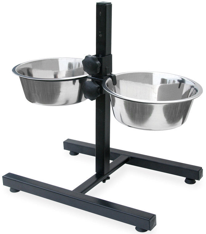 Adjustable Raised Bowl Steel Pet Diner