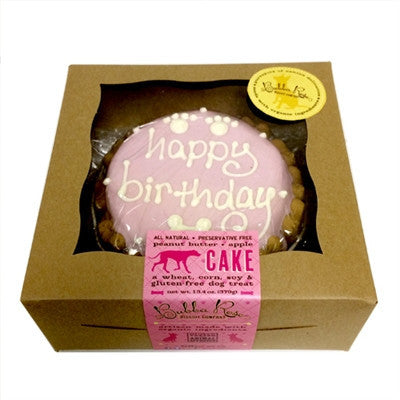 Dog Birthday Cake - Pink
