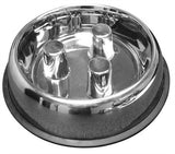 Stainless Steel Slow feeding Dog Bowl by Fast Brake