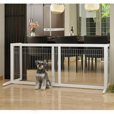 Freestanding Pet Gate HL- white
