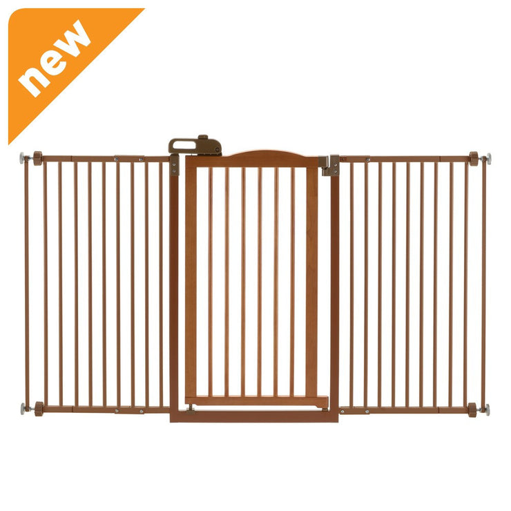 Wide Decor Gate One Touch two Brown