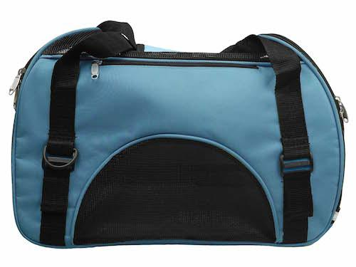 Blue airplane pet carry bag