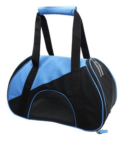 blue airline approved dog carrier
