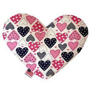 Multi hearts plush canvas dog toy