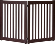 mahogany Amish Crafted 2 panel pet gate