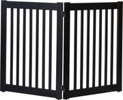 Amish Crafted 2 panel pet gate black