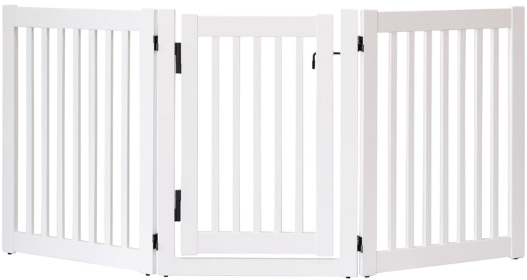 Highlander walk thru barrier with swing door -white