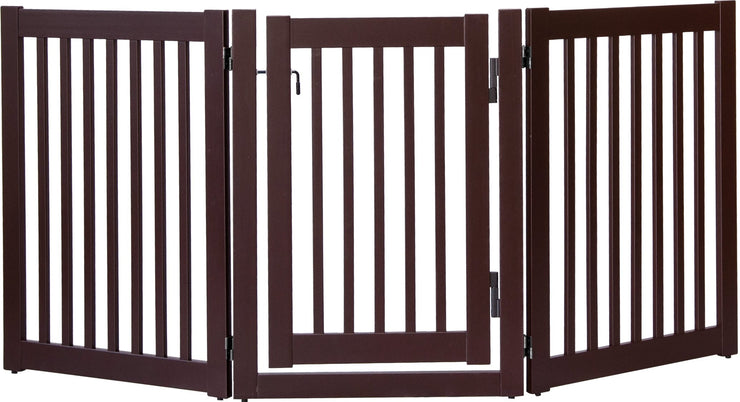 Highlander walk thru barrier with swing door -mahogany