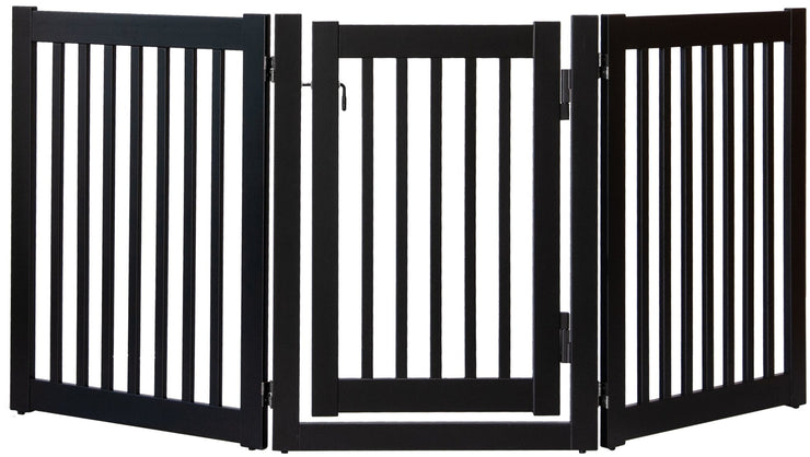 Highlander walk thru barrier with swing door -black