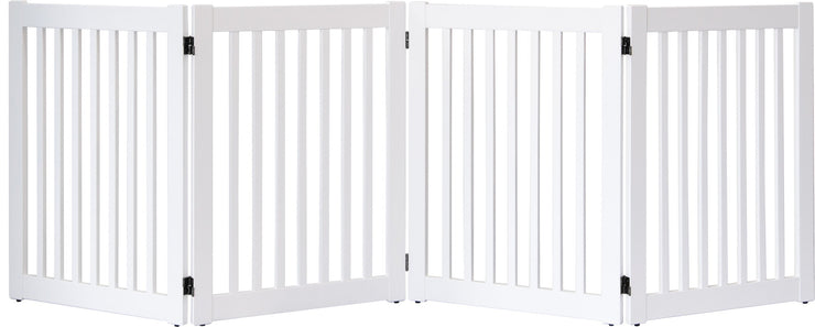 Highlander series 4 panel pet barrier - white