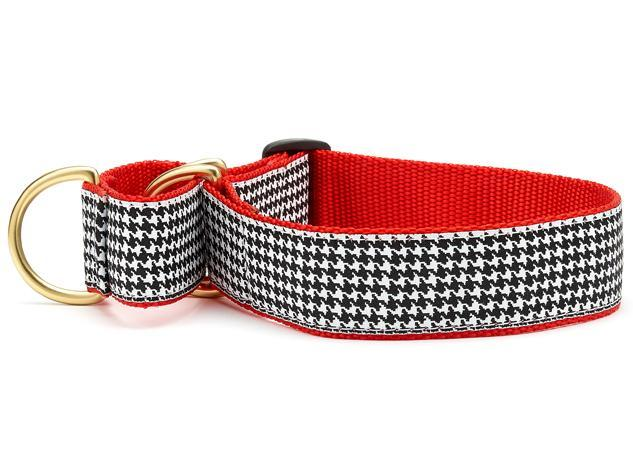 extra wide martingale collar houndstooth