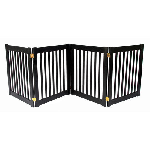 Freestanding Wide Wood Amish Pet Gate
